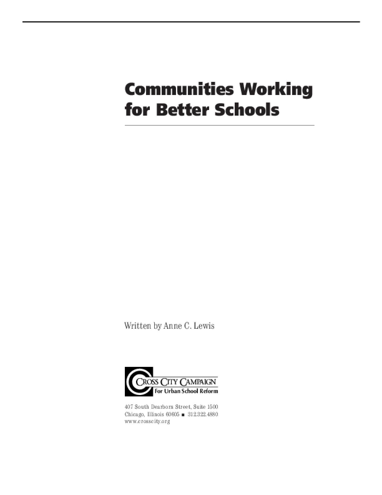 Communities Working for Better Schools