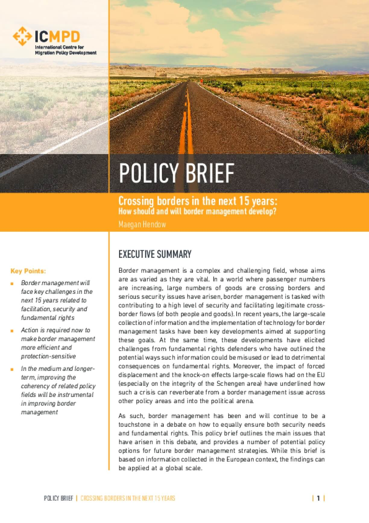 Crossing borders in the next 15 years: How should and will border management develop?