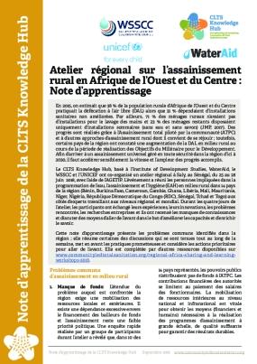 Atelier régional sur l'assainissement rural en Afrique de l'Ouest et du Centre : Note d'apprentissage