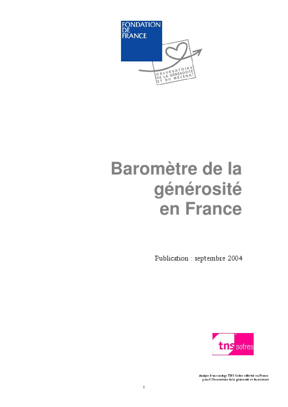 Baromètre De La Générosité En France