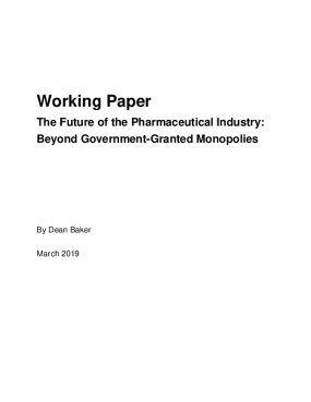 The Future of the Pharmaceutical Industry: Beyond Government-Granted Monopolies