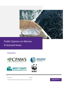 Public Opinion on Marine Protected Areas 2019