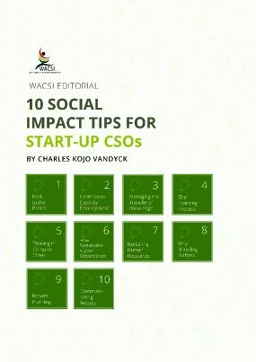 10 Social Impact Tips for Start-up CSOs